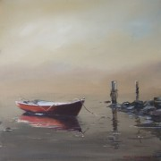 Red-Dinghy-in-lifting-fog